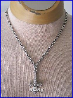 David Yurman Sterling Albion Y Chain Necklace 18 inches adjustable