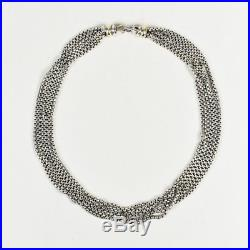 David Yurman Sterling Silver 14k Gold Multi Stand Necklace