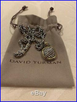 David Yurman Sterling Silver & 18k Gold Classic Albion Pendant & Cable Necklace