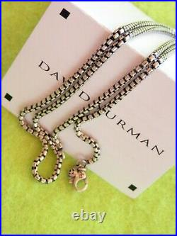 David Yurman Sterling Silver 2.7mm Box Chain Necklace 26 Long with Tag