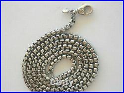 David Yurman Sterling Silver 3.7mm Box Chain Necklace 24 Long with Tag