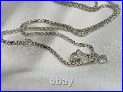 David Yurman Sterling Silver 925 Box Chain Necklace 1.7mm Wide 17in Adjustable