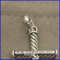David Yurman Sterling Silver Cable Classic Cross Amulet Necklace Pendant Only