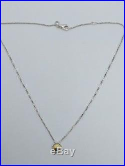 David Yurman Sterling Silver Chatelaine Necklace With 18K Gold Dome 17 Long