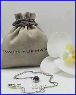 David Yurman Sterling Silver Chatelaine with Black Orchid pendant necklace
