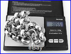 David Yurman Sterling Silver Large Round Link Chain 18 Necklace New Box 9n