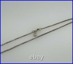 David Yurman Sterling Silver Round Box Chain Necklace 1.7mm 16'