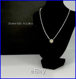 David Yurman-Sterling silver & 14k Gold Cookie Pendant Necklace With Peridot 16