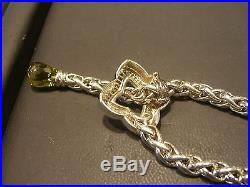 David Yurman Womens Necklace 18k Yellow Gold And Sterling Silver Quartz Necklace