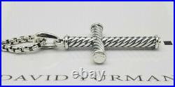 David Yurman cable cross necklace sterling silver