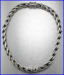 Men's Heavy 925 Sterling Silver Wheat Style 19.50 Chain Necklace 262.2gr