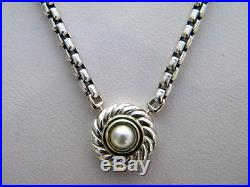 NEW David Yurman Silver/14k Gold Classic Cookie Pearl Necklace