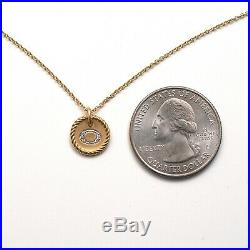 New DAVID YURMAN 18K Cable Collectibles Initial O Pendant 16-18 Necklace