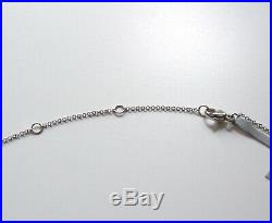 New DAVID YURMAN 18K White Gold Oval Chain Link 16-18 Necklace NWT