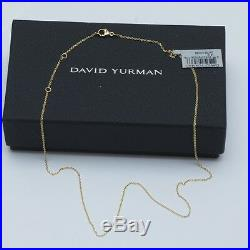 New DAVID YURMAN 18K Yellow Gold Oval Chain Link 16-18 Necklace NWT