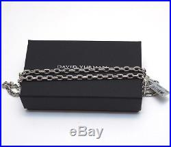 New DAVID YURMAN Men's Cable Classic 22 Oval Link Sterling Silver Necklace NWT